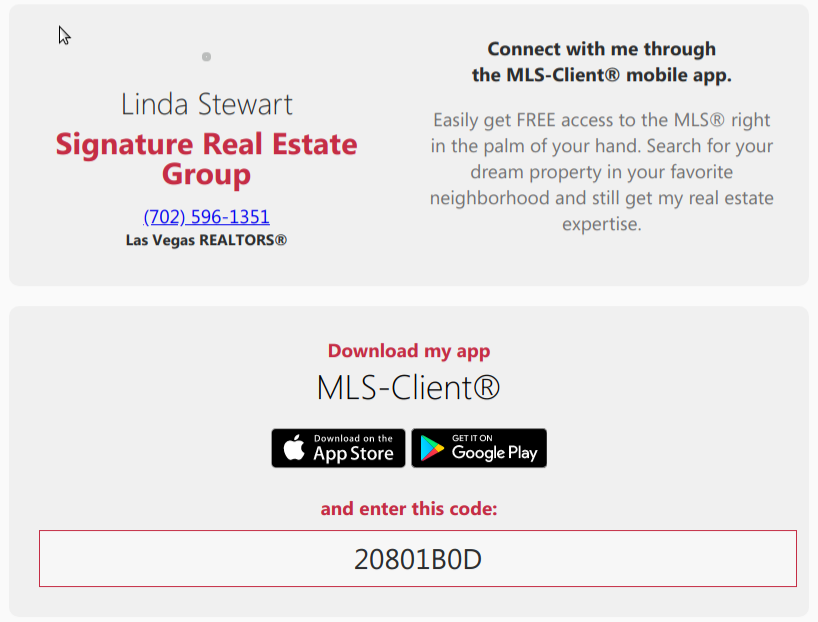 Download/Install MLS-Client for immediate assistance | Linda Stewart Signature Real Estate Group